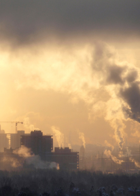 pollution affects skin